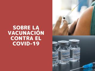 Sobre la vacunación contra el COVID-19