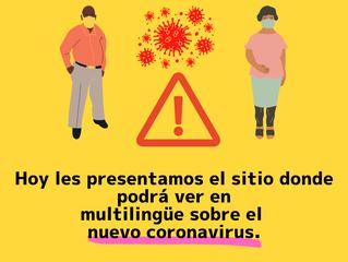 El sitio donde podrá ver en multilingüe sobre el nuevo coronavirus