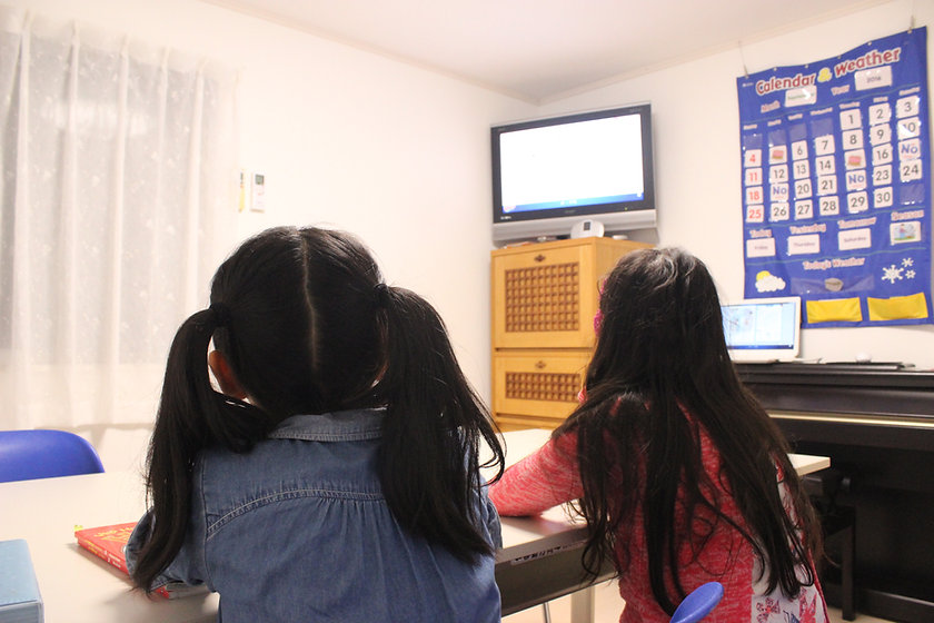 Children learning English at Step Up Learning Centre