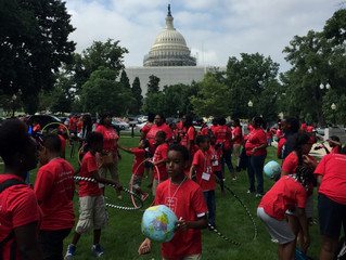 "NO PLANET B JOINS MOMS CLEAN AIR FORCE HOLD ""PLAY-IN"" PROTEST ON CAPITOL HILL URGING CLIMATE, AIR PO"