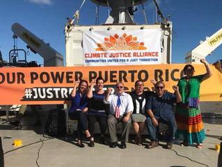 South Florida leaders call for Climate Justice for Puerto Rico aboard Greenpeace's Arctic Sunris