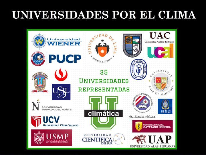 Las Universidades representadas por sus estudiantes en la UCLIMATICA!