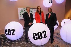 Cada esfera representa 1 KG de CO2