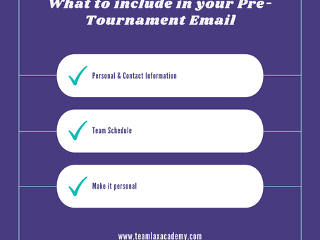 What to Have in Your Pre-Tournament Email