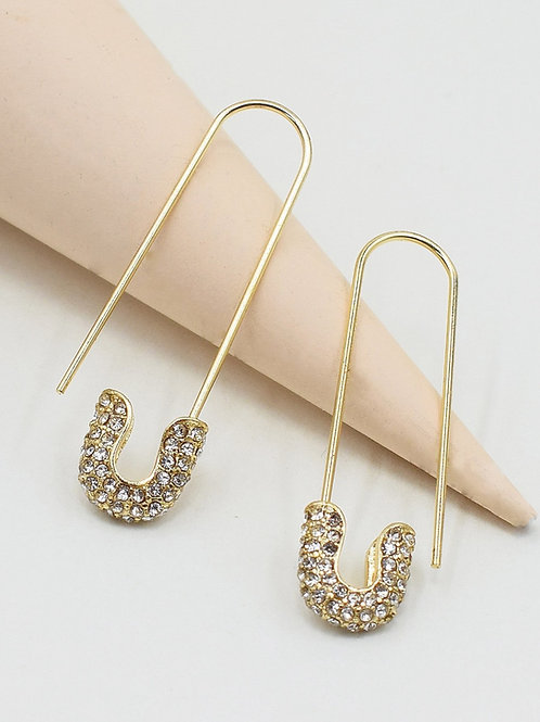 Gold Safety Earrings