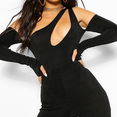 Cut It Out Bodysuit (Black)