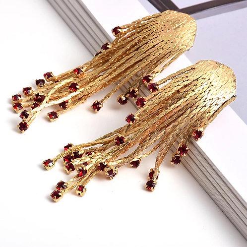 Gold & Rubi Earrings
