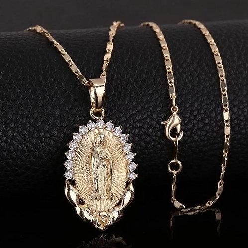 Virgin  Mary Necklace ( Virgen De Guadalupe)
