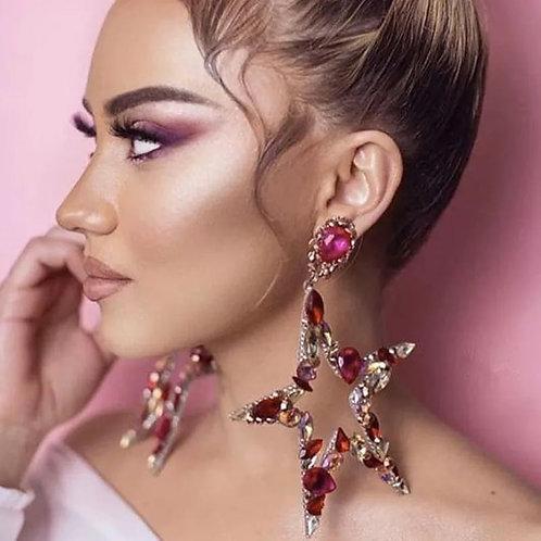 Pink Star Earrings