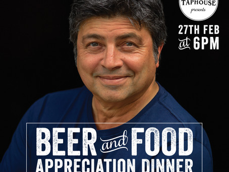 FOOD & BEER APPRECIATION DINNER WITH GEOFF JANSZ