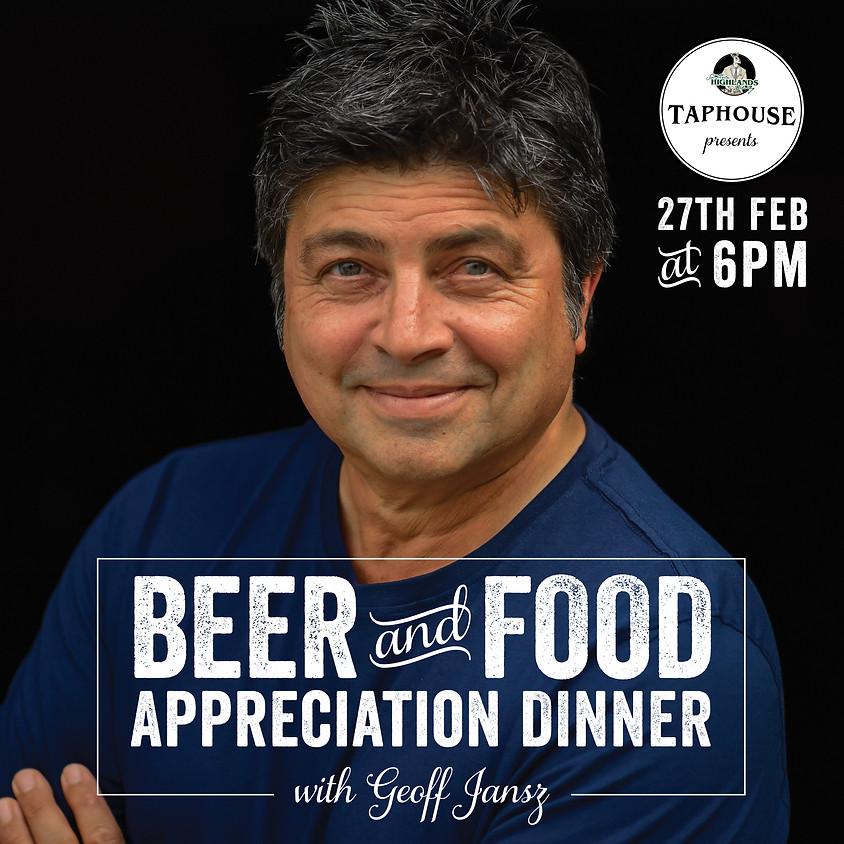 Beer & Food Appreciation Dinner with Geoff Jansz