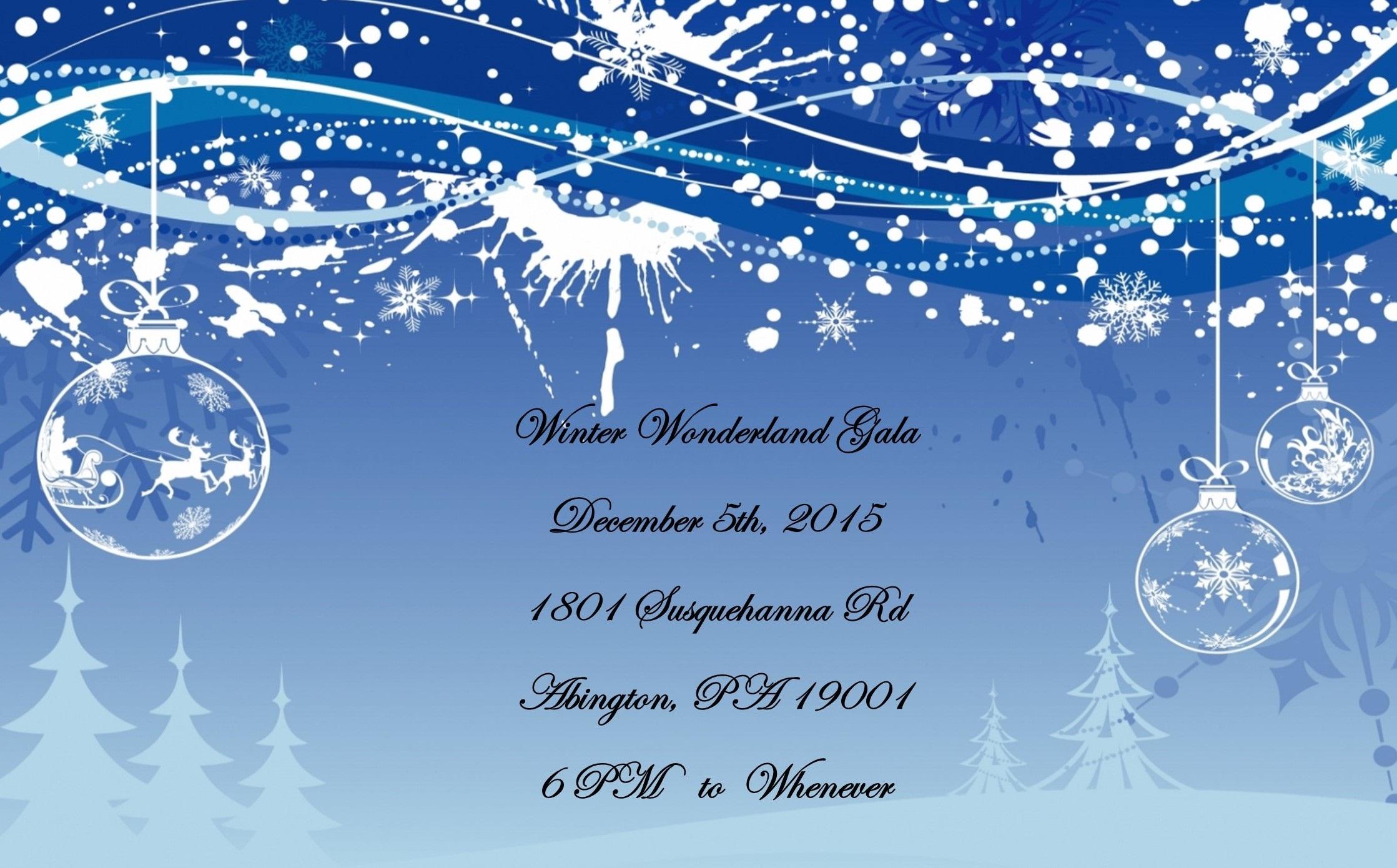 Winter Wonderland Announcement