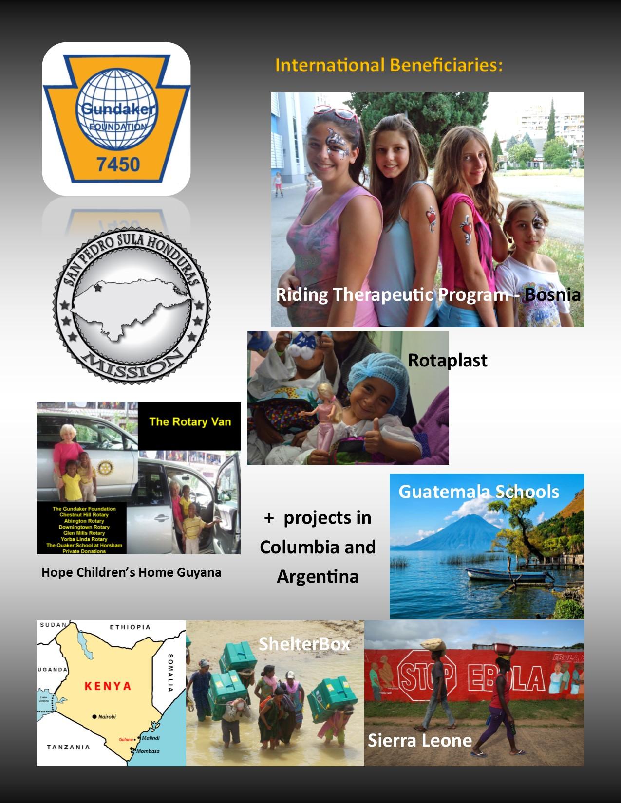 International Beneficiaries 2014 -2015