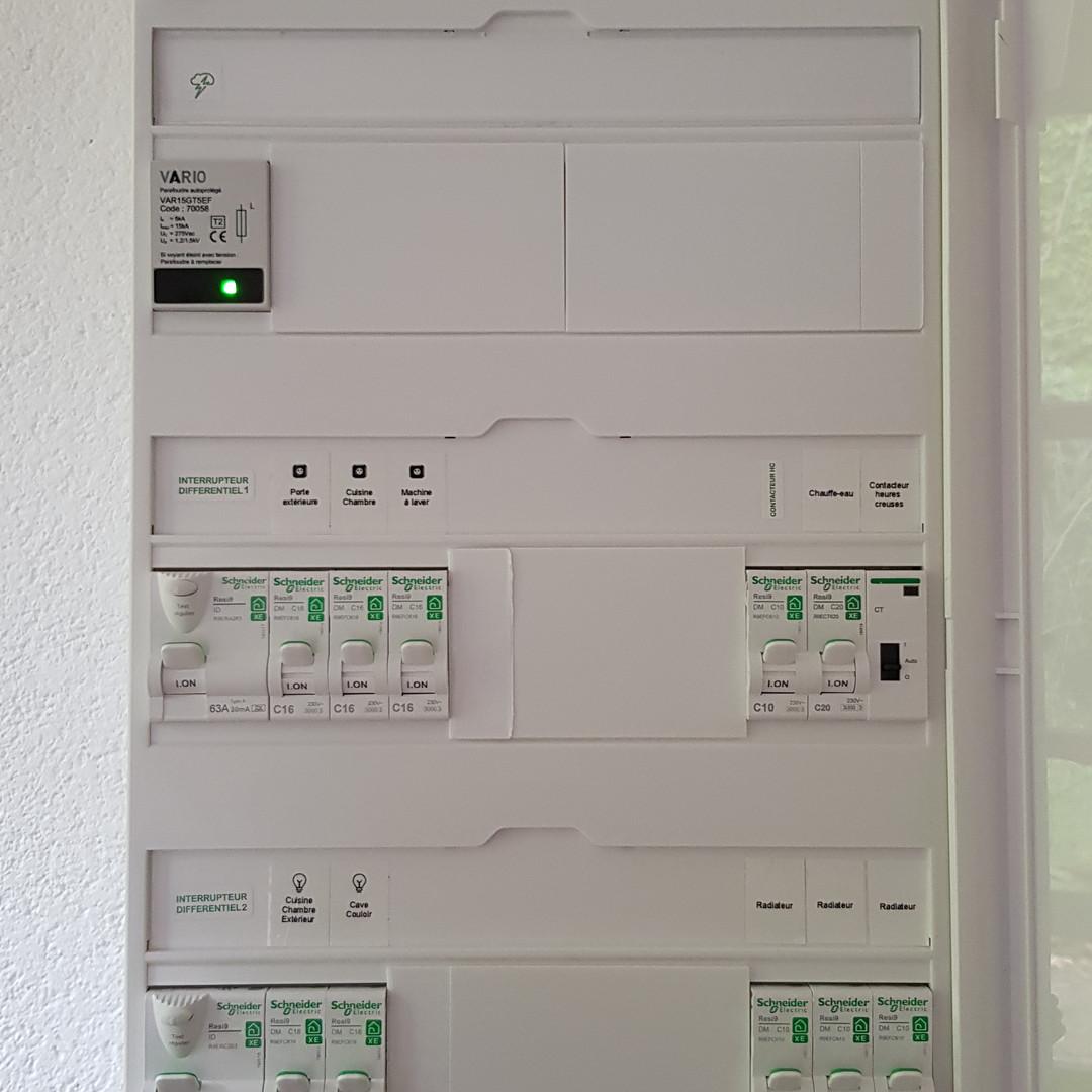Tableau électrique pour remise aux normes de l'installation