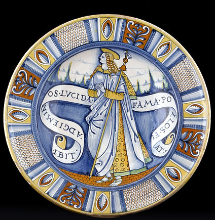 Deruta (Italie) Sainte Lucida, ver 1520-1530.