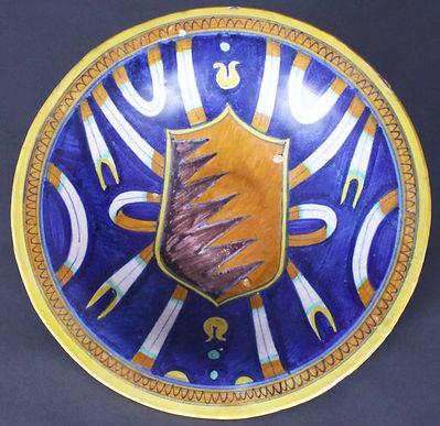 Faenza (Italie), armoiries des Bentivoglio, seigneurs de Bologne. Début XVIe siècle.
