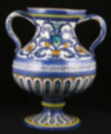 Deruta (Italie), grand vase. Premier tiers du XVIe siècle. H. 32,5 cm.