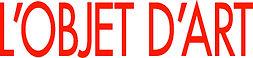 OBJET DART (lettre rouge sans Estampille