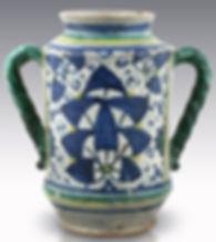 Montelupo (Italie) Albarello à la palmette persane, début du XVIe siècle.