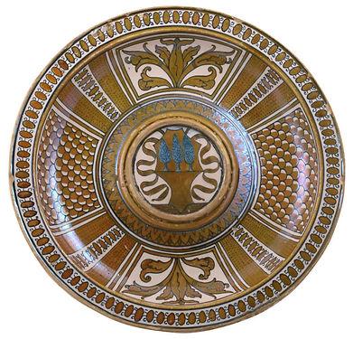 Deruta (Italie) décor lustré. Premiers tiers du XVIe siècle.