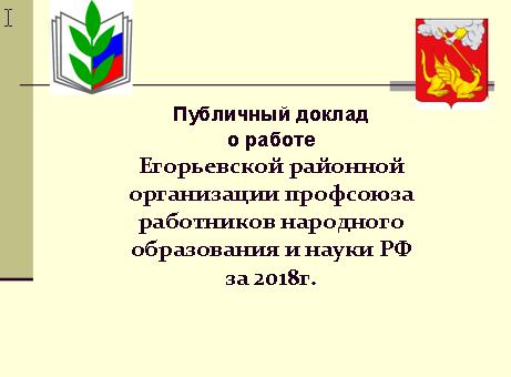 Публичный доклад за 2018 год