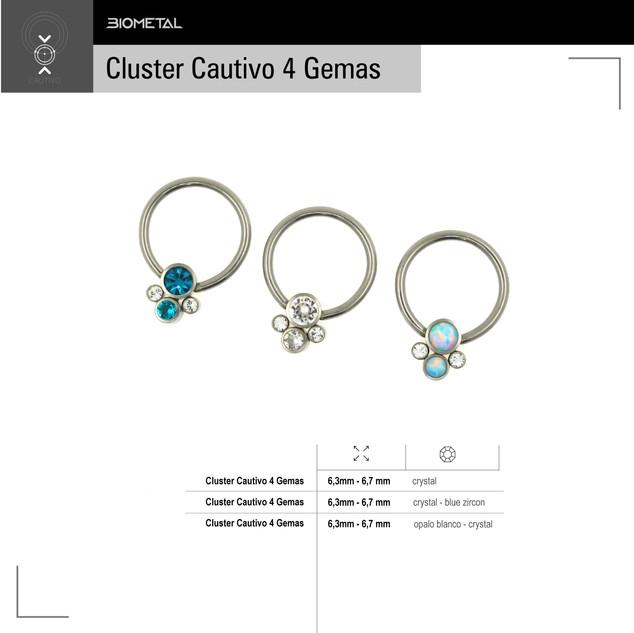 Cluster Cautivo 4 gemas