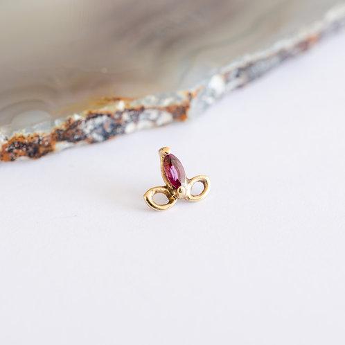 flor de liz con 1 gema