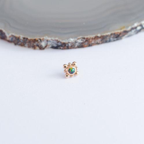 8 bead cluster con opalo