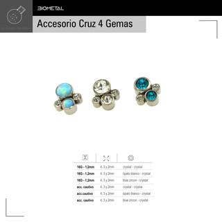 Accesorio Cruz 4 gemas