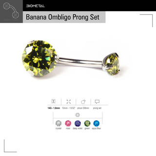 Banana Ombligo Prong Set