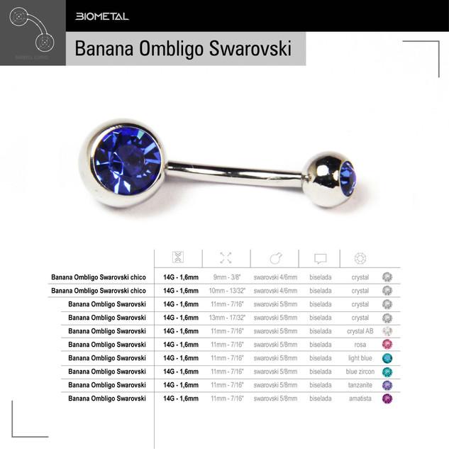 Banana Ombligo Swarovski