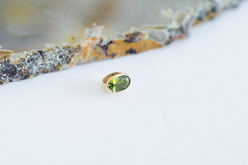 turmalina verde ovalada chica