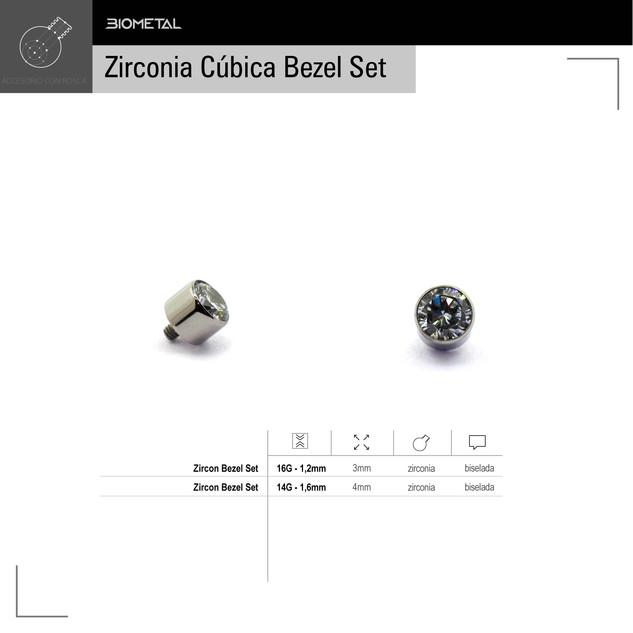Accesorio zircon bezel set