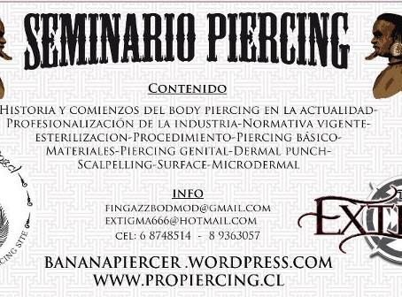 SEMINARIO DE PIERCING EN SANTIAGO DE CHILE 5 Y 6 DE MAYO 2012