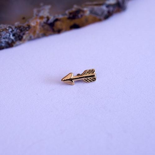 Flecha de oro con rosca