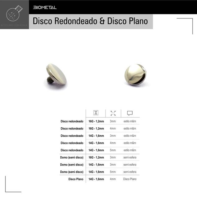 Disco redondeado & Disco plano