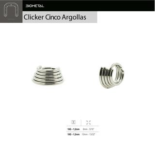 Clicker 5 argollas con bisagra