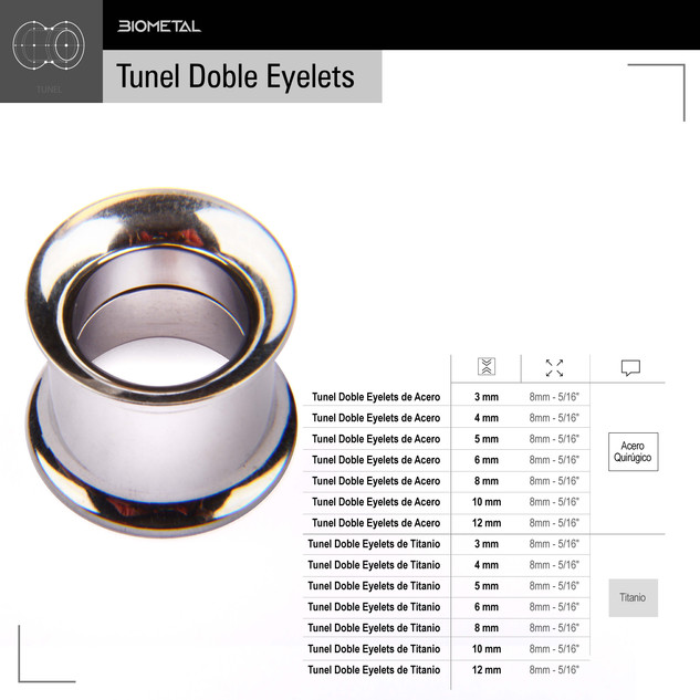 Tunel Doble Eyelets