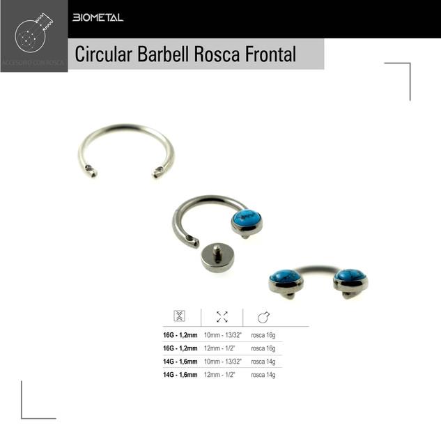 Circular Barbell rosca frontal