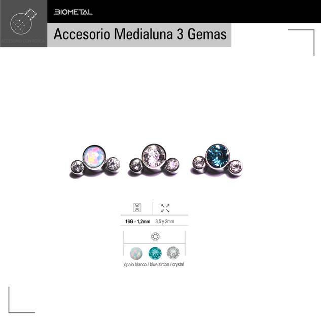 Accesorio Medialuna 3 gemas