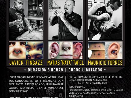 TALLER EN TECNICAS DE BODY PIERCING PROFESIONAL – ARGENTINA 28 SEPT 2014