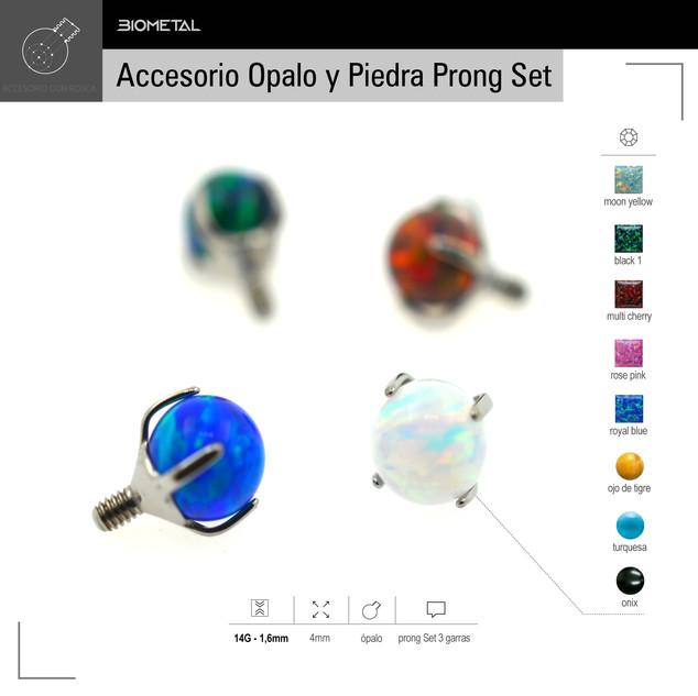 Accesorio con Opalo prong set