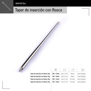 Taper de insersion con rosca