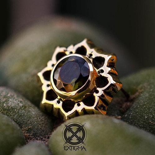 Flor de loto con gema