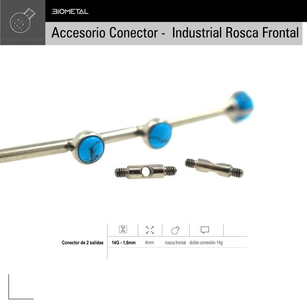 Acc. Conector industrial rosca frontal
