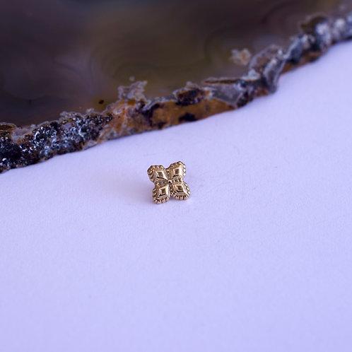 Cruz de oro milgrain