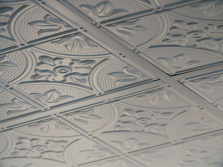 Detailed shot of patterns on the ceiling.