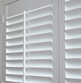 White shutters.