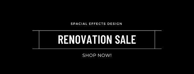 renovation sale black banner  shop now