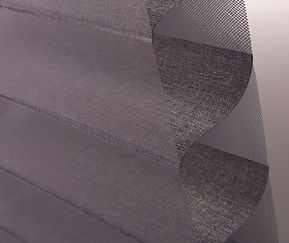 Cropped image of a Hunter Douglas silhouette blinds.